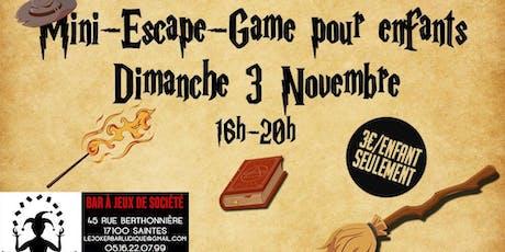 Mini Escape-Game Harry Potter pour enfants billets