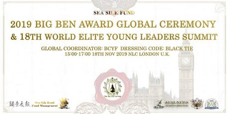 2019 Big Ben Award Global Ceremony LONDON tickets