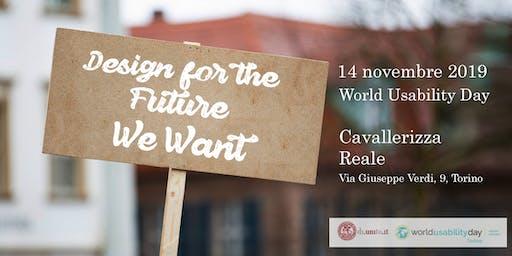 WUD Università di Torino 2019 - Designing for the Future We want