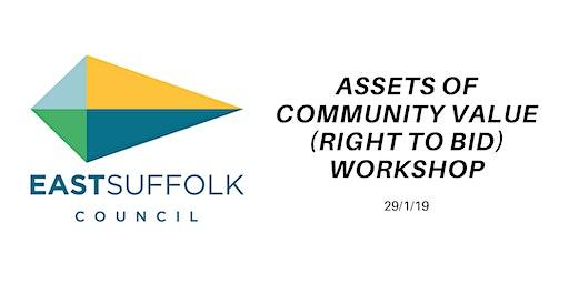 Asset of Community Value (Right to Bid) Workshop