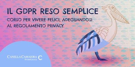Il GDPR RESO SEMPLICE™ biglietti
