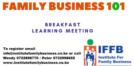 Family Business 101 - Family Business Learning Breakfast Meeting - ELDORET