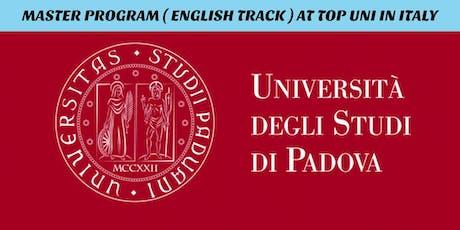 INFO SESI MASTER PROGRAM ( ENGLISH TRACK ) DI TOP UNI ITALIA tickets