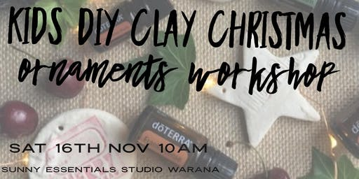 Kids DIY clay Christmas ornaments workshop