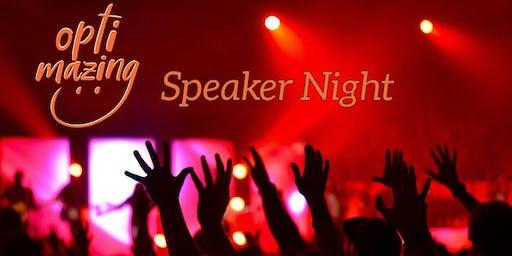 Optimazing Speaker Night