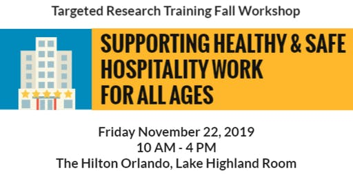 Targeted Research Training Fall 2019 Workshop