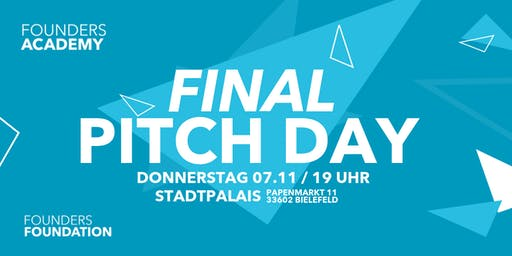 FOUNDERS Academy #8 - Final PITCHDAY