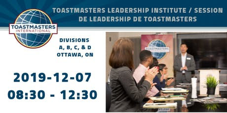 OTT Toastmasters Leadership Institute/Session de leadership de Toastmasters tickets