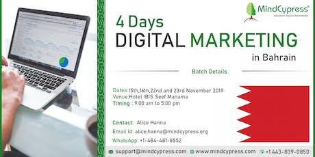 Digital Marketing 4 Days Training by MindCypress at Bahrain tickets
