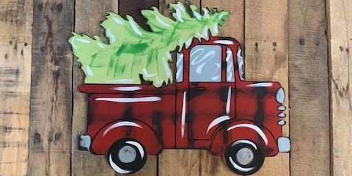 Let's Paint a Christmas Truck Door Hanger