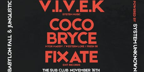 VIVEK / FIXATE / COCO BRYCE - MELBOURNE SHOW tickets