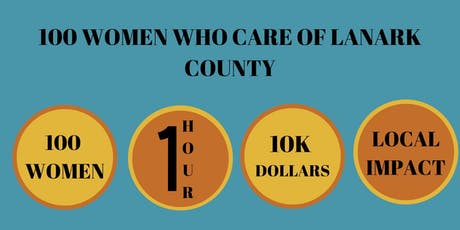100 Women Who Care Lanark County November Meeting billets