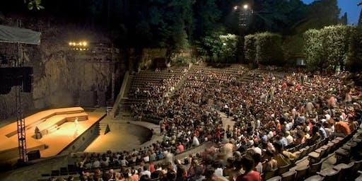 Meditacion del Sunset en el Teatro Griego
