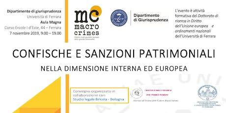 Confische e sanzioni patrimoniali nella dimensione interna ed europea biglietti