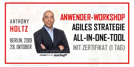 Agiles Strategie-All-In-One-Tool.  Anwender-Workshop mit Zertifikat (1 Tag) Tickets