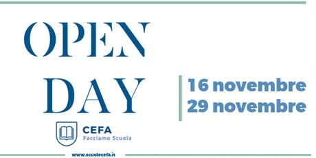OPEN DAY Scuole Cefa biglietti