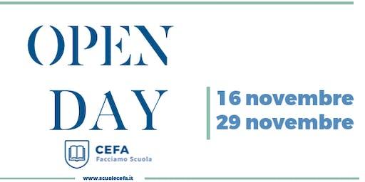 OPEN DAY Scuole Cefa