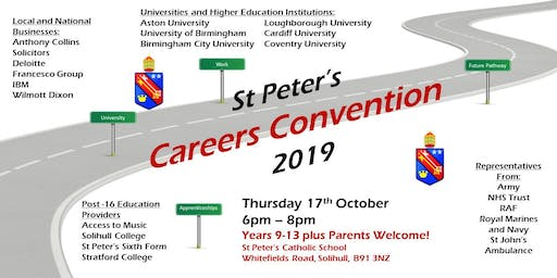 St Peter's Careers Convention 2019