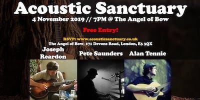 Acoustic Sanct @ Angel of Bow: Alan Tennie / Pete Saunders / Joseph Reardon