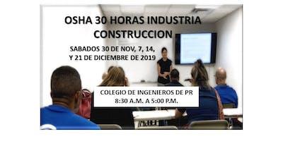 OSHA 30 HORAS INDUSTRIA CONSTRUCCION