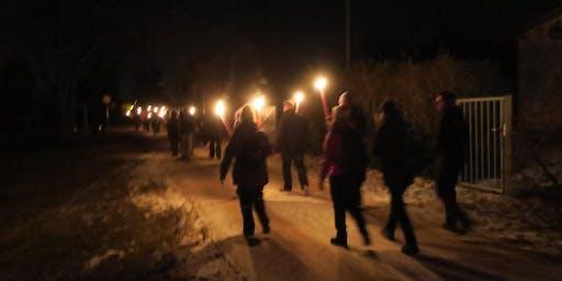"""So,15.12.19 Wanderdate """"Single Wandern Fackelwanderung mit Glühwein zum Rhein für 50+"""""""