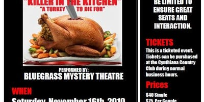"Mystery Dinner Theater - ""Killer in the Kitchen"""