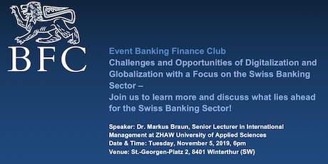 Event Banking Finance Club ZHAW SML tickets