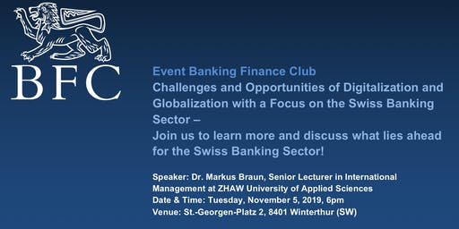 Event Banking Finance Club ZHAW SML