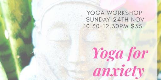 Yin Yoga For Anxiety workshop