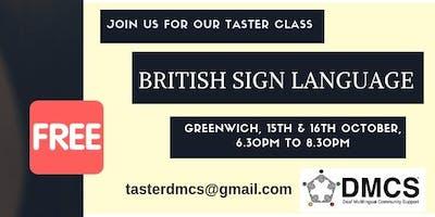 British Sign Language taster class (FREE)