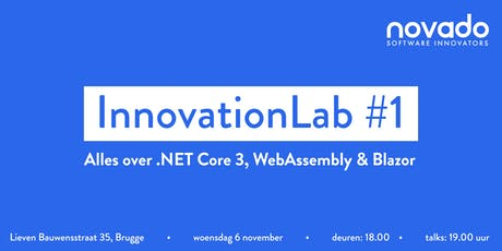 InnovationLab #1: alles over .NET Core 3, C# 8.0, WebAssembly & Blazor tickets