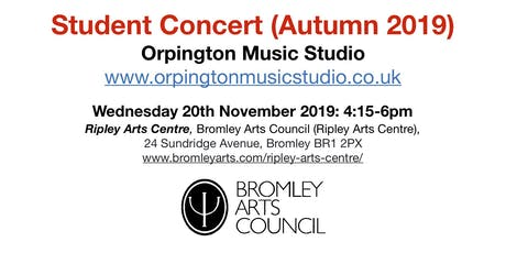 Student Concert (Autumn 2019) - Orpington Music Studio tickets