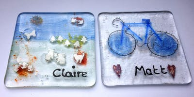 Fused Glass Tile or Coaster Pair Class (Deposit Booking)