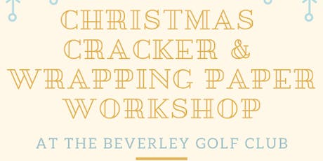 Make your own crackers & stamped wrapping paper - Eco Christmas Workshop tickets