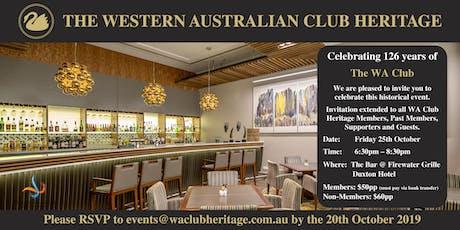 Celebrating 126 Years of the WA Club tickets