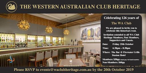 Celebrating 126 Years of the WA Club