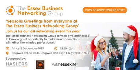 The Essex Business Networking Group - December 2019 tickets