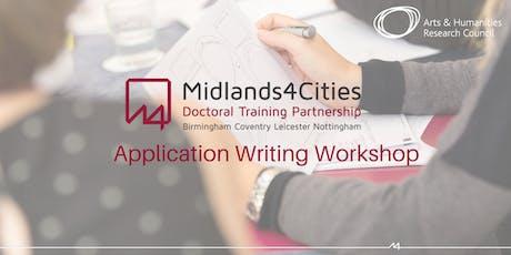 Midlands4Cities Application Writing Workshop- Birmingham tickets