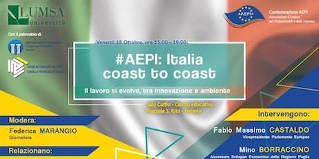 #AEPI: ITALIA COAST TO COAST biglietti