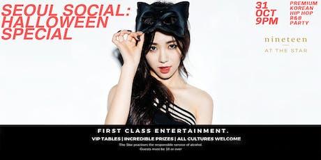 Seoul Social: Halloween Special.  Premium Korean Hip Hop R&B Party! tickets