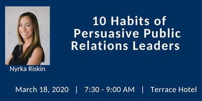 FPRA March Meeting: 10 Habits of Persuasive Public Relations Leaders