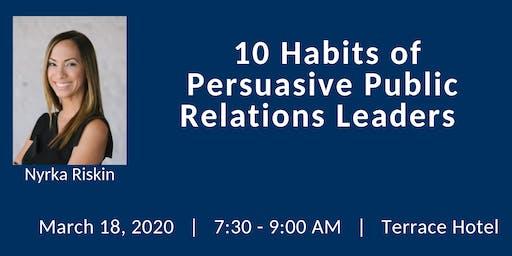 FPRA March Meeting: 10 Habits of Persuasive Public Relations Leaders