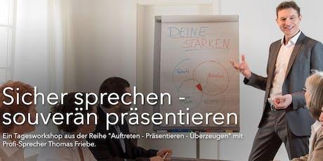 """""""Sicher sprechen – souverän präsentieren!"""" mit Profisprecher Thomas Friebe Tickets"""