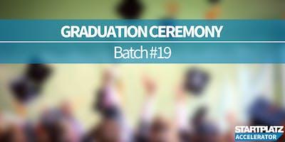 STARTPLATZ Accelerator Graduation Ceremony (Batch #19)