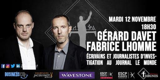 Tribunes reçoit Gérard Davet et Fabrice Lhomme