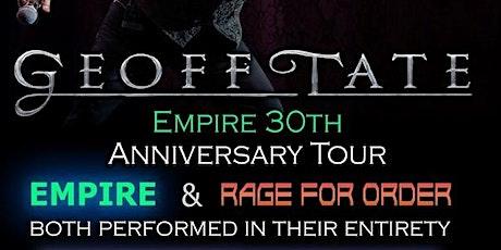 """Geoff Tate QUEENSRYCHE 30 aniversario """"Empire"""" entradas"""