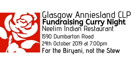 Glasgow Anniesland CLP - For the Biryani, not the Stew! tickets