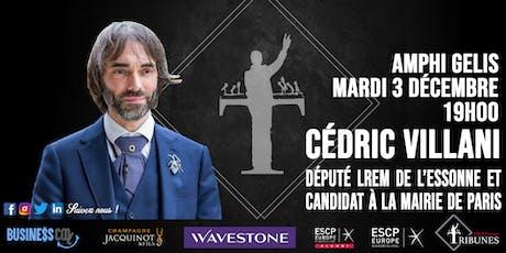 Tribunes reçoit Cédric Villani billets