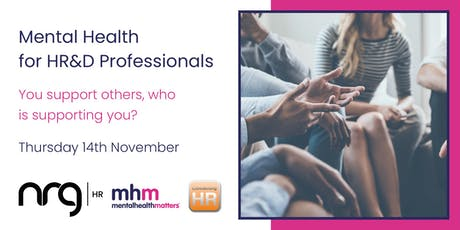 Mental Health for HR&D Professionals  tickets
