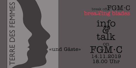 Podiumsdiskussion Terre des Femmes & Gäste zum Thema FGM/C Tickets